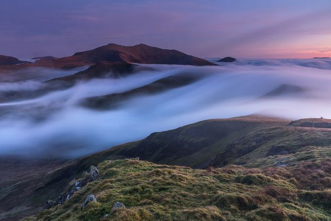 'Twilight Inversion' - Moel Eilio, Snowdonia by kriswilliams - Long Exposure Experiments Photo Contest