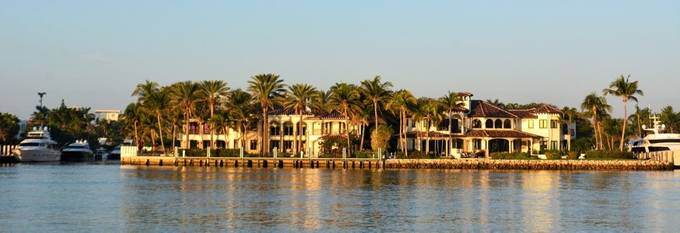This is one of the mansions by the Inter-coastal at Fort Lauderdale.