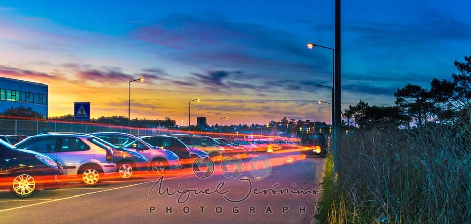 The Sunset light trails