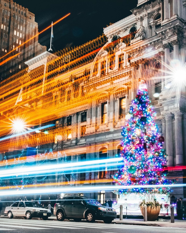 Rockin' Around the Christmas Tree by jamiekassa - Holiday Lights Photo Contest 2017