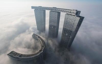 Rising through the fog