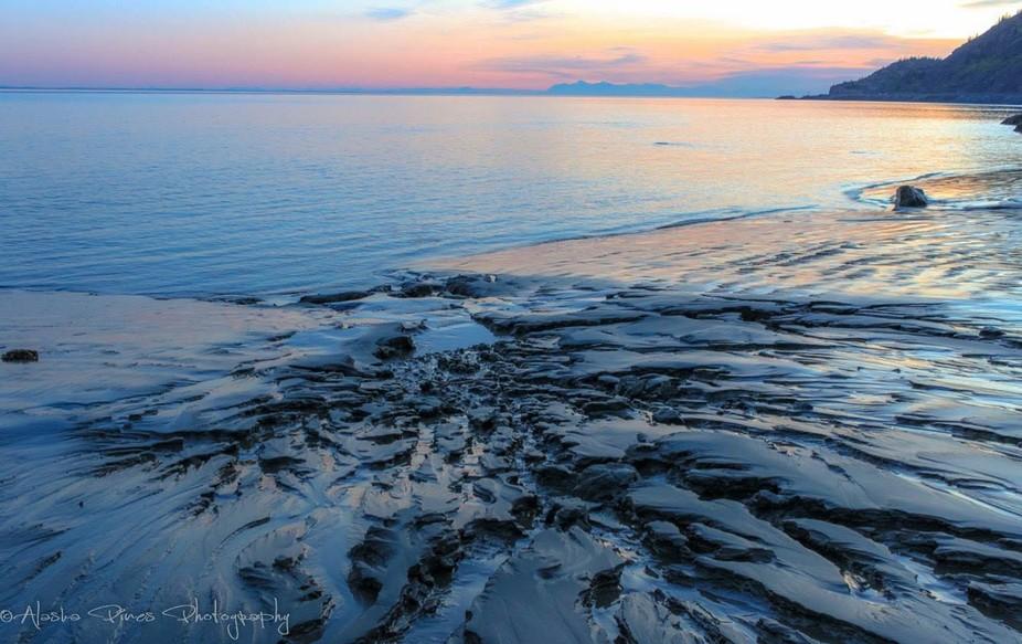 Low tide at Beluga Point, along the Turnagin Arm of Cook Inlet, Alaska