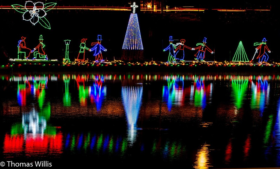 Christmas Lights in Natchitoches, LA, USA