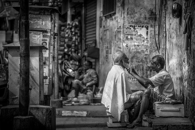 Streetside Shave by NickBPhotoUK - Creative Compositions Photo Contest Vol5