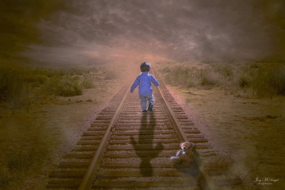 Little Boy Running Away From Home - Manipulation