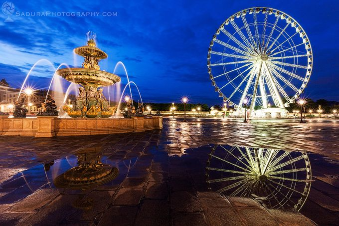 Fontaine des Fleuves and Ferris Wheel on Place de la Concorde in Paris by henryksadura - Paris Photo Contest