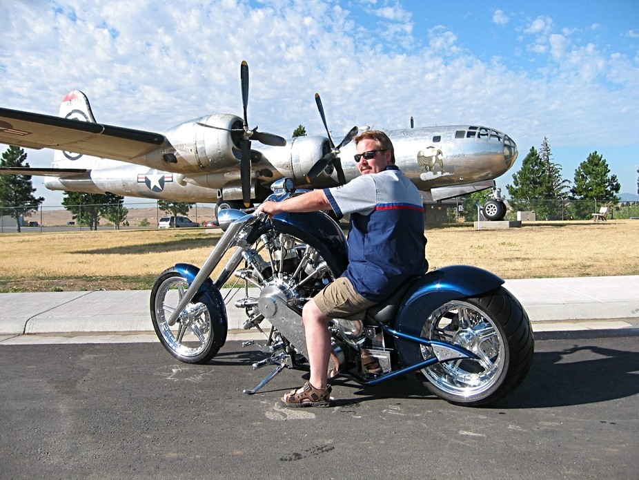 Me on a JRL Cycles Radial Engine Chopper