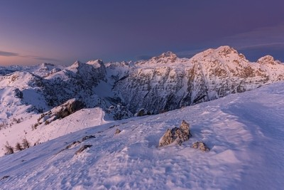 Morning panorama of Alps