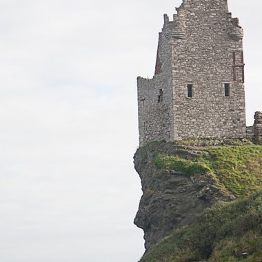 This is Greenan Castle near Ayr in Scotland.This was taken from the beach, but i have noticed just as i chose to upload this photo that the cliff looks like a face!