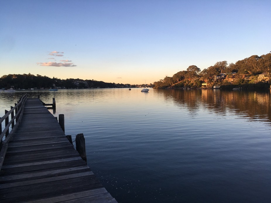 Late afternoon at Como Jetty on Georges River, South East of Sydney.