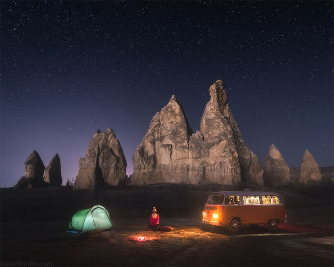 Cappadocia nights by DanielKordan - Outdoor Camping Photo Contest