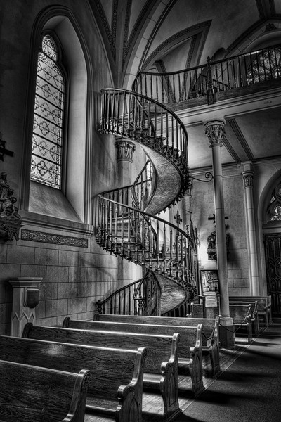 Loretto Staircase in Santa Fe, New Mexico