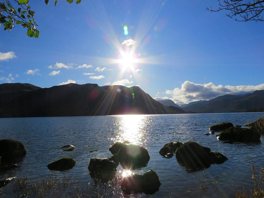 Sun over Ulswater Cumbria