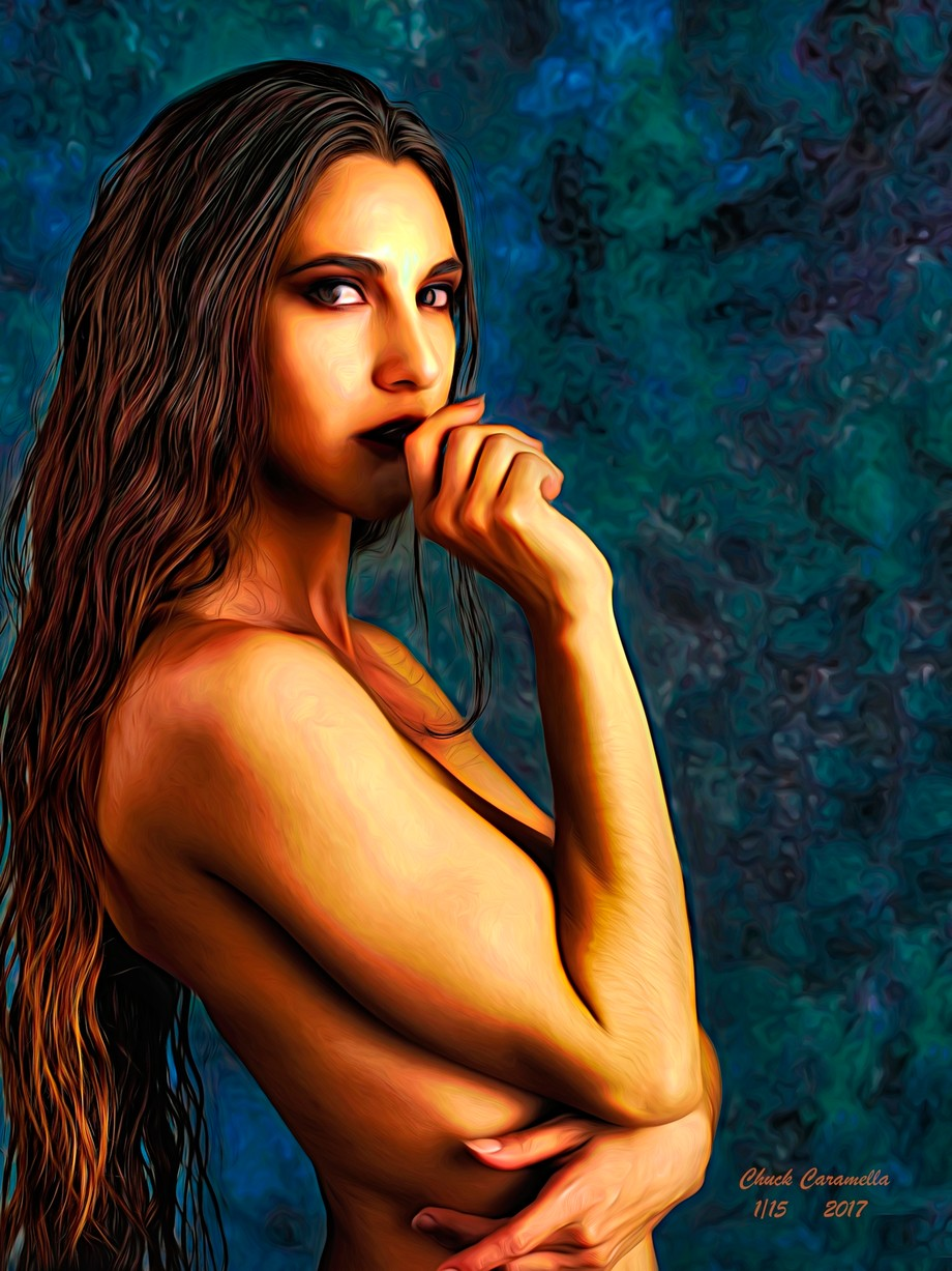 Photography - Digital Manipulation - Painting. Realistic Expressionism. Model: SEKAA