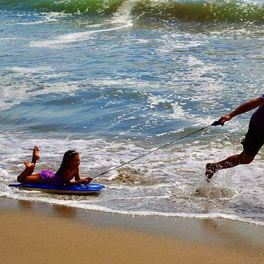 Malibu beach slide!