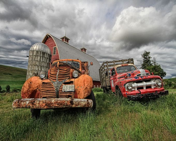 Two Old Farm Trucks by Lovesphoto - Trucks Photo Contest