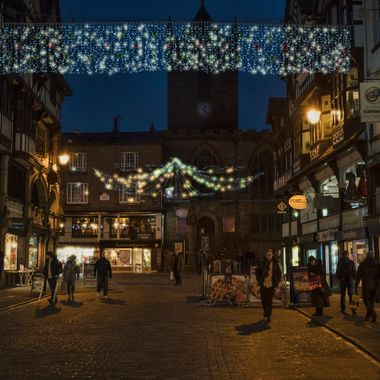 Christmas Lights at Chester Cross.
