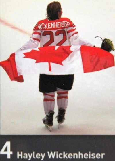Hayley Wickenheiser with Canadian Flag
