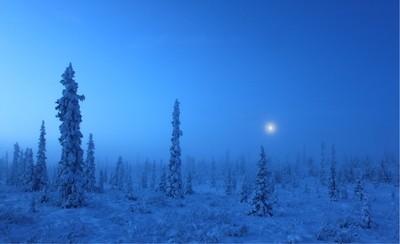 Ice fog morning