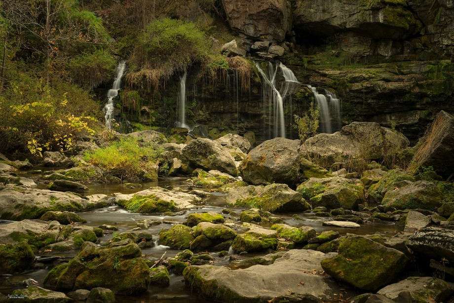 Akron Waterfall in late October, down to just a trickle. A week later and it was roaring after th...