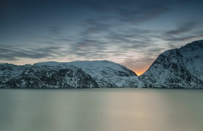 Sunset in Hønseby - Arctic Norway