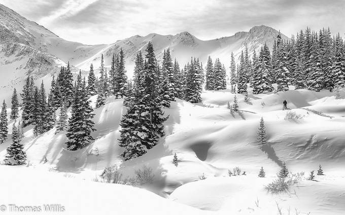Backcountry Skier by tomwillis - Winter In Black And White Photo Contest