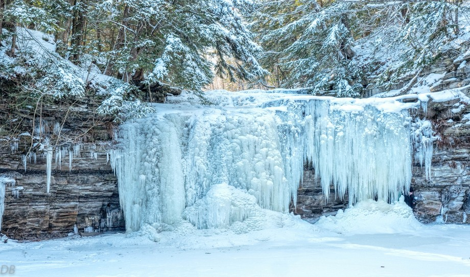 On the last day of 2017 it was -3 degrees and this beautiful waterfall was frozen in time. Just a...