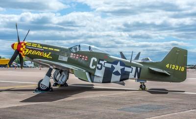 Historic USAF P-51D Mustang - Frenesi  Prounounced Free n Easy