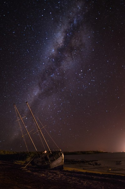 A Boat Wreck in Northern Australia