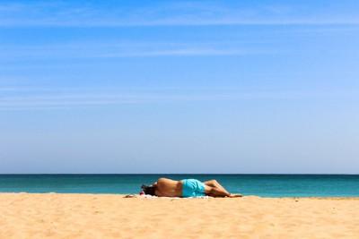 beach siesta