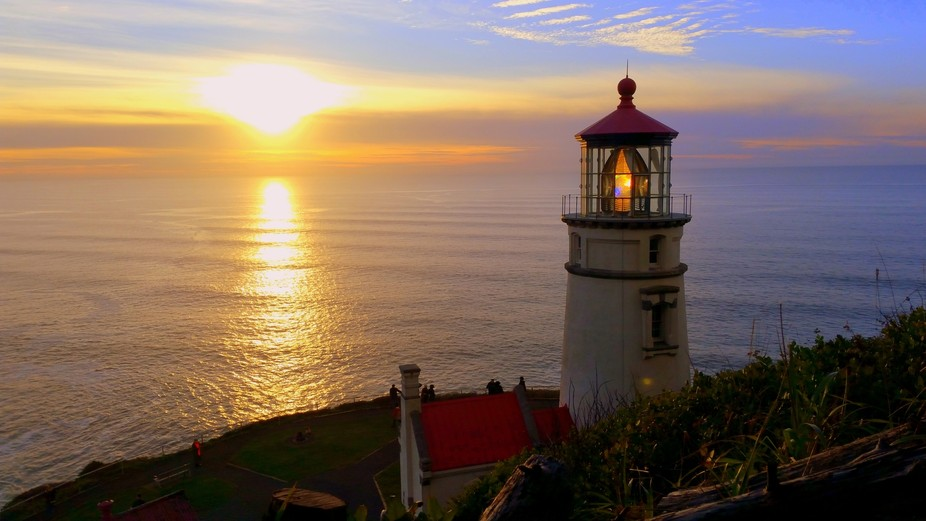 On New Year's Day Jan. 2, 2018 this was taken at Heceta Lighthouse, located between Flor...