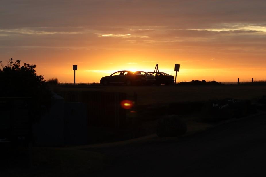 Sunset, Ohawe beach Taranaki NZ