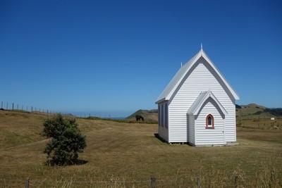 Country Church Manakau Heads New Zealand.