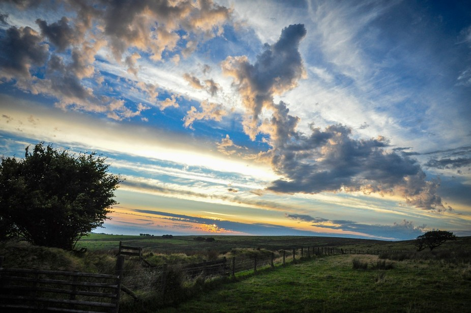 After a cold and dull day on Exmoor the sun set was quite nice.