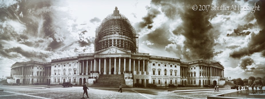 US Capitol, Edited to look aged, iPhone June 2015