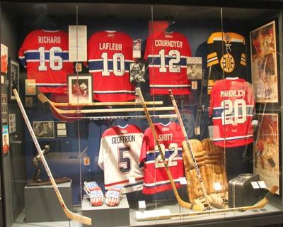 NHL Hockey Sweaters on Display