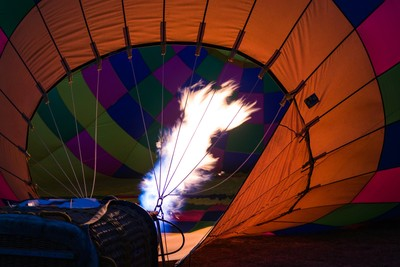 Filling up with hot air