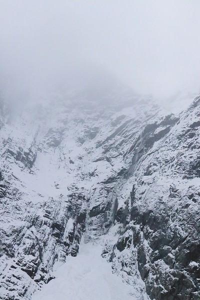 Mountain enters sky