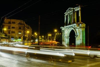 lighttrails @ Athens