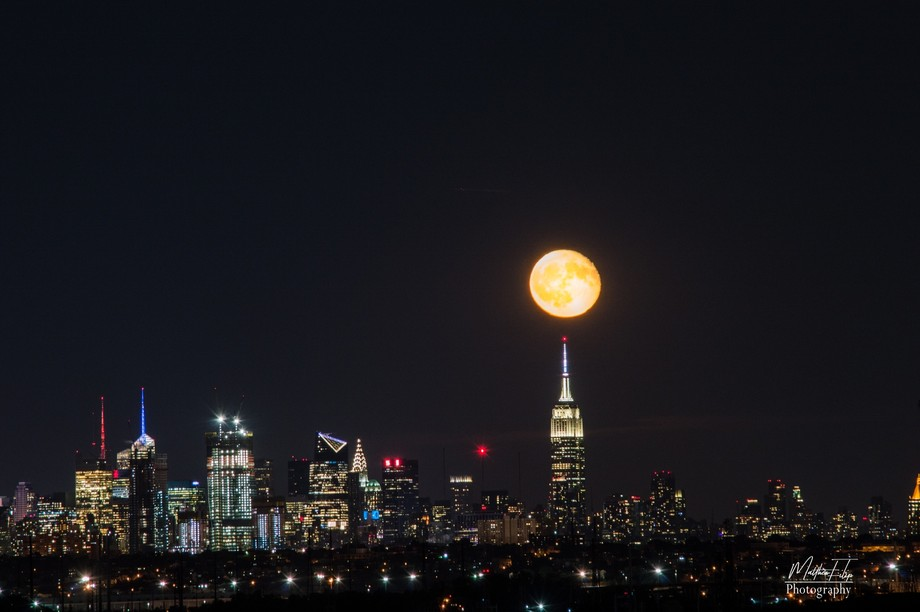 When I got home late that day I noticed how large the moon was and where it was.  After several s...