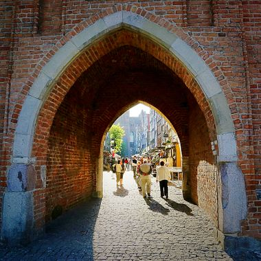 Ancient walled city of Gdansk!