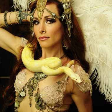 Monique is a gorgeous and mesmerizing belly dancer. She teaches in Talent, Oregon and performs with Angelique, who is very cooperative and intelligent.
