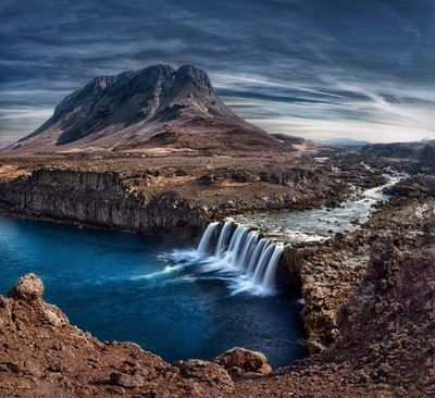 Búrfell is a mountain in the south of Iceland
