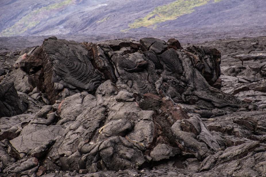 Lava field.