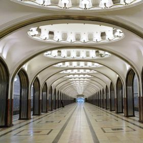 Moscow Underground (Metro). This station is named after Vladimir Mayakovsky, a great Russian poet