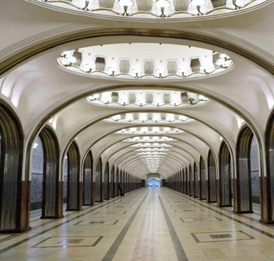 Mayakovsky Square Station: The Art Deco