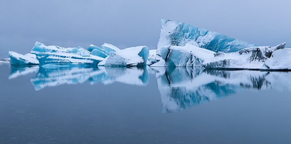 Stunning ice reflection