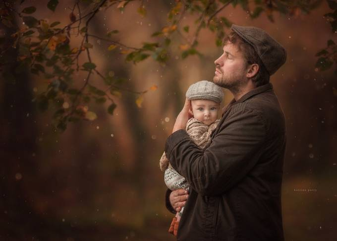 Safe in Daddy's Arms by wonderandwhimsy - The Brown Color Photo Contest