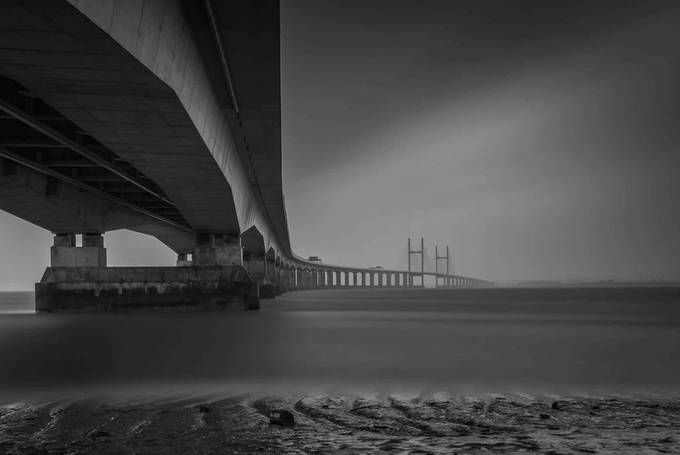 the-second-severn-bridge by jimcooke_7951 - Black And White Compositions Photo Contest vol2