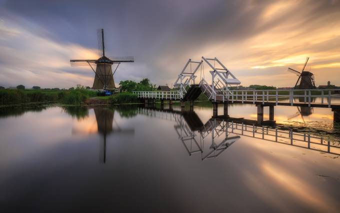 Exploring Kinderdijk by TomazKlemensak - Spectacular Bridges Photo Contest